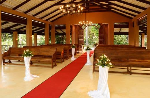Simple yet elegant on-site chapel