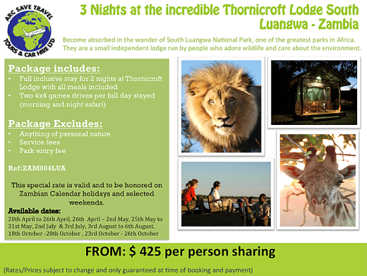 South Luangwa 3 nights package
