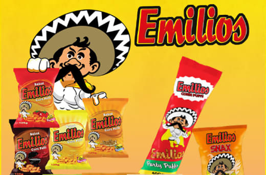 Emilios corn puffs and snax