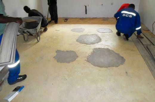 Lays all kinds of flooring for homes and offices