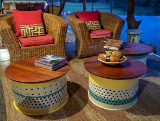 Kaingu adds new lodge furnishings made with recycled materials