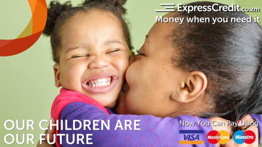 Ensure your child's future is catered for with ExpressCredit Zambia loan of up to K100,000