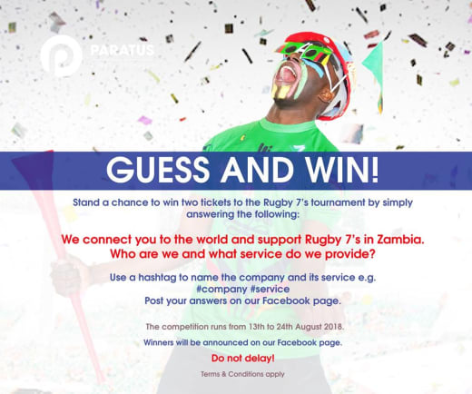 Win 2 tickets to the Rugby 7's Tournament