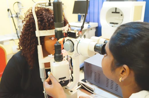 Vision Care runs eye camps and monthly eye clinics