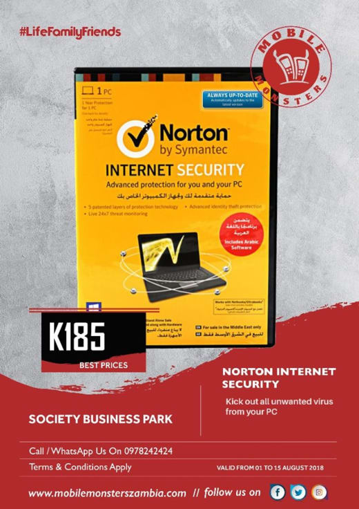 Norton Internet Security software available in stock