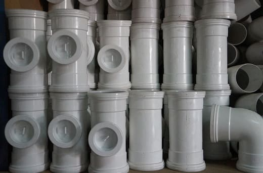 Sewer pipes and fittings that are built with all new materials