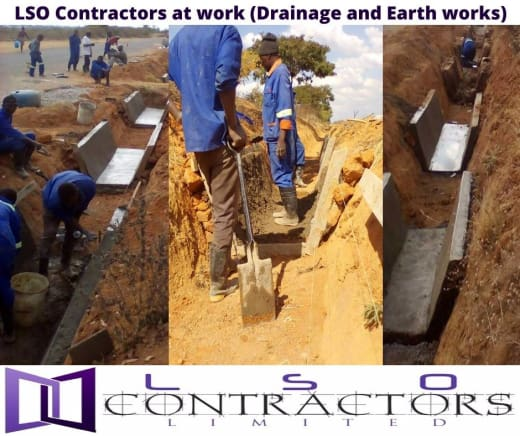 Drainage and earth works available