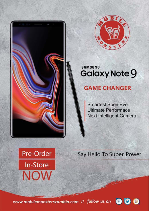Pre-order the new Samsung Galaxy Note 9 at Mobile Monsters