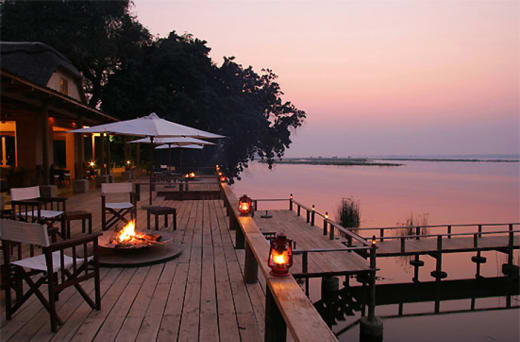 Luxury safari lodge on the Zambezi River