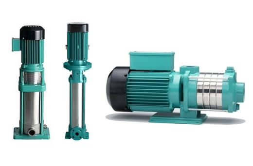 Vertical multi-stage mono-block pumps