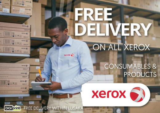 Free deliveries on all Xerox consumables and products