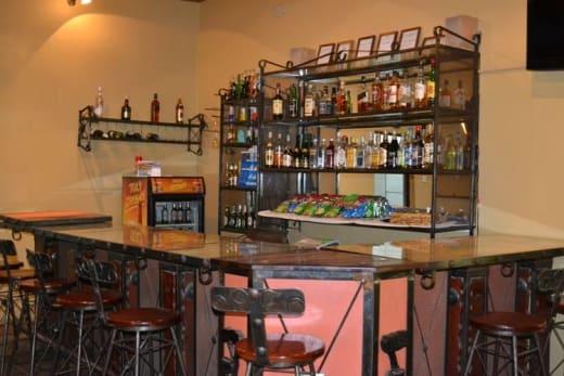 Fully licensed well-stocked bar