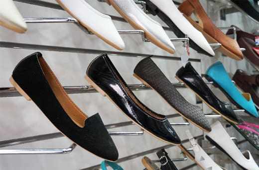 For quality men's, women's and children's shoes visit Madina Sales