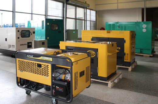 Engine powered generators by Kipor, Kirloskar, Deutz and Cummins