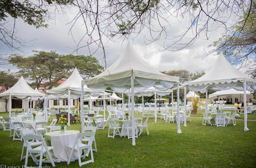 Marquees, tables, chairs, cutlery, crockery, glassware