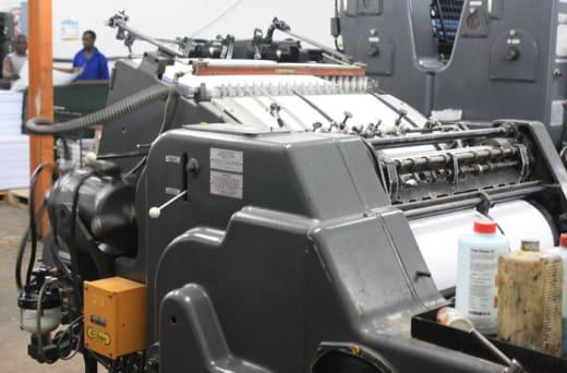 The printing process at Aquila