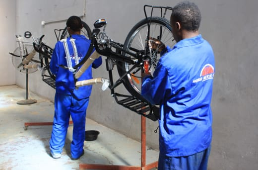 Each bike comes with a small toolkit and a pump for basic maintenance