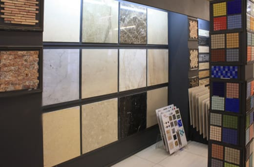 Wide selection of slabs in marble and granite