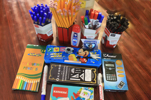 Supplies products both as retails and in bulk to schools