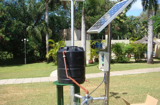Solar-powered water pumps - Ideal where grid electricity is unavailable