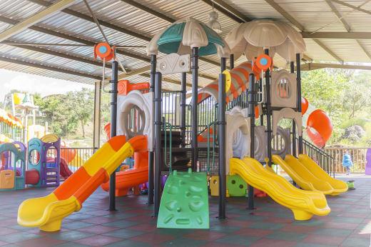 Modern playground equipment for kids