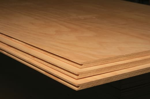 Plywood comes in panels that are highly resistant to impacts and chemicals