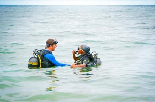 Only registered PADI scuba diving resort in Zambia