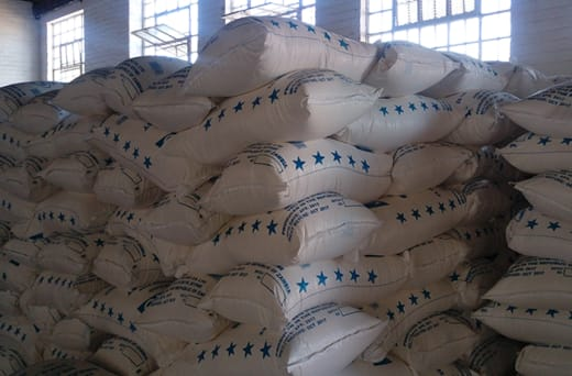 Mealie meal production with products such as breakfast and roller meal