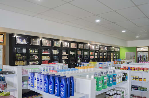 Variety of men and women's health and beauty products