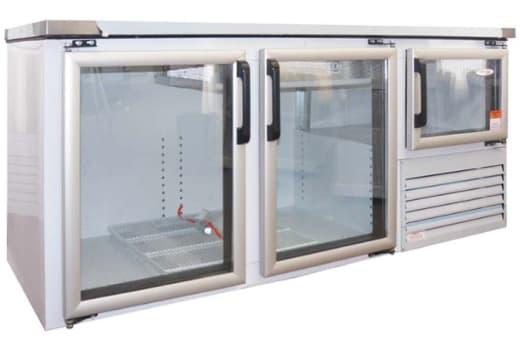 Energy efficient bottle coolers, freezers and under bar fridges