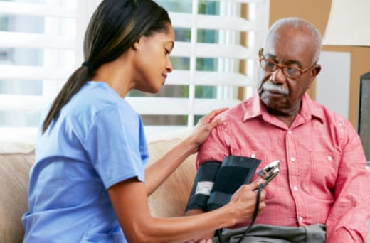 Carers undergo training and are familiar with medical equipment