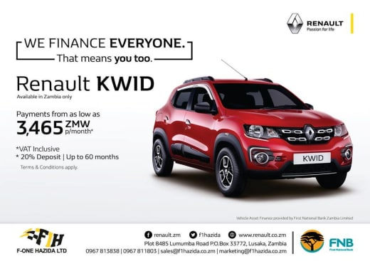 Purchase the Renault KWID with an attractive repayment plan