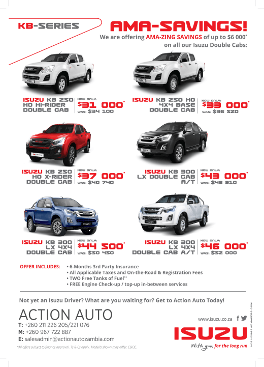 Amazing savings of up to $6000 on all Isuzu Double Cabs