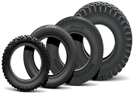 Tyres for a wide range of vehicles