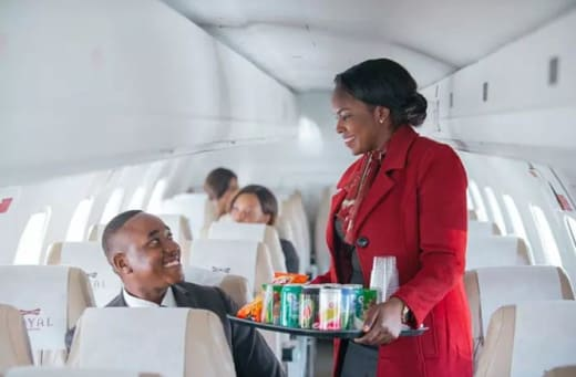 Manages every aspect of each client's in-flight experience