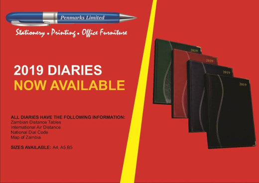2019 diaries now available in stock