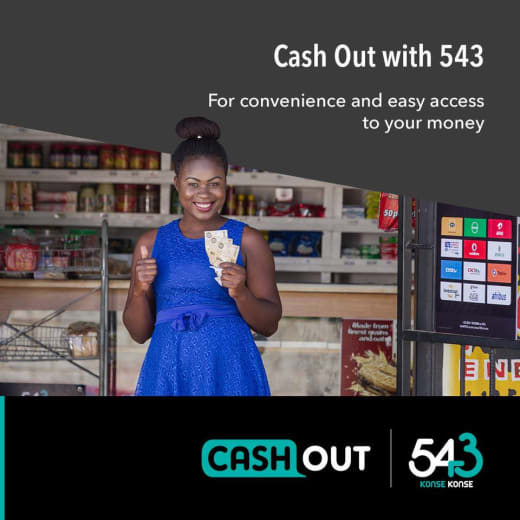 Withdraw funds from bank accounts through 'Cash Out'