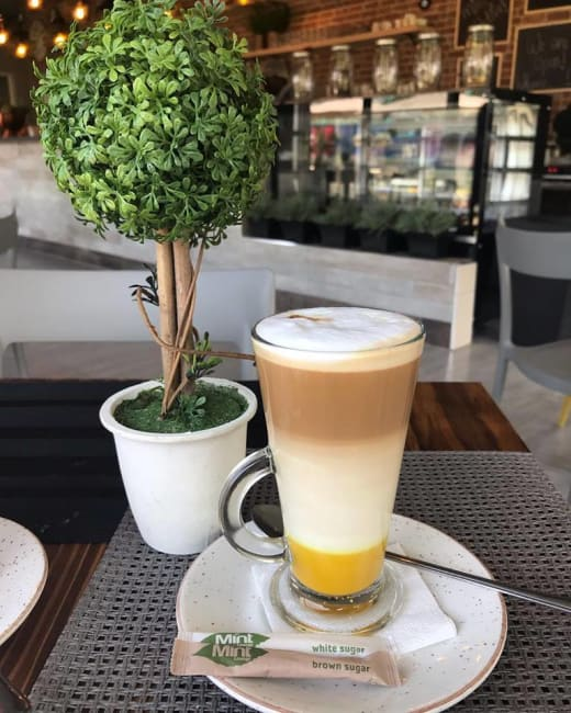 Visit Mint Lounge Cafe for your flavory Tumeric Latte