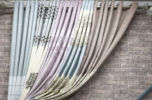 Curtain making service (to order) and curtain accessories