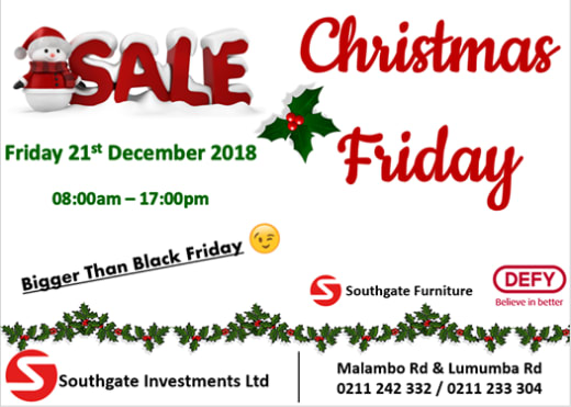 Christmas Friday Sale at Southgate Investments