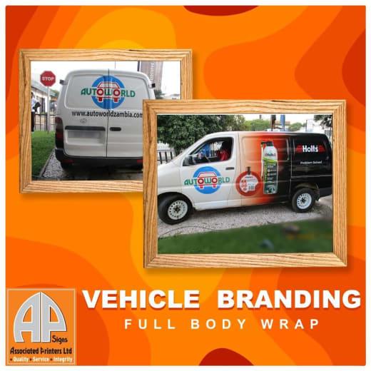 Vehicle branding full body wrap