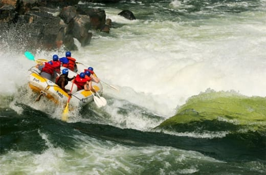 White water rafting with thrilling and challenging rapids