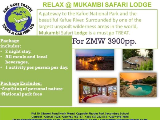 Kafue National Park 2 nights package
