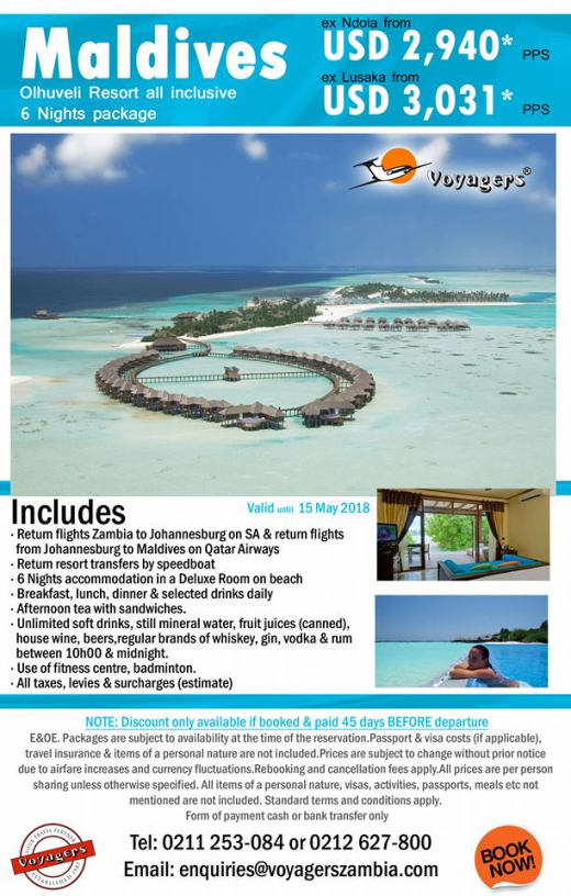 Maldives all inclusive holiday package