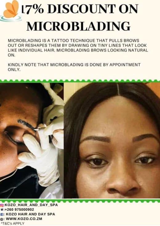17% off eyebrow microblading