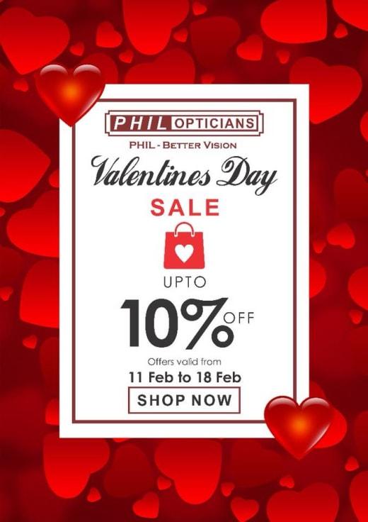 Valentine's Sale: 10% off at Phil Opticians