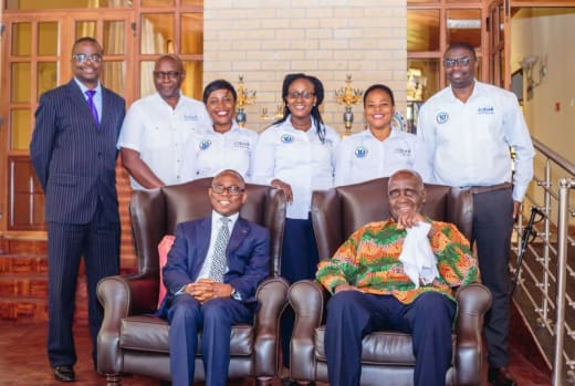 Ecobank visits Dr. Kenneth Kaunda as part of its 10th birthday celebrations
