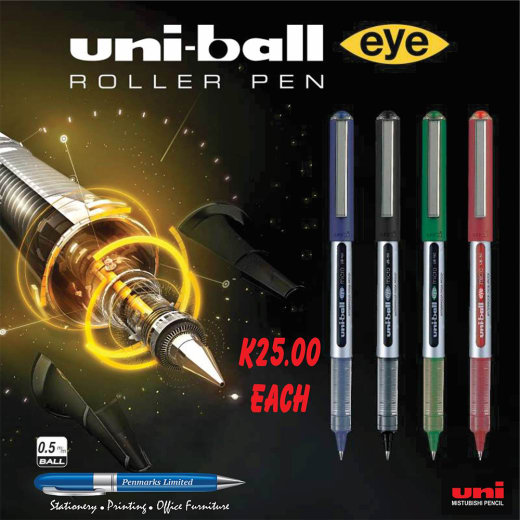The Eye Fine Ballpoint pen has been the world's favourite roller ball ink pen for 20 years.