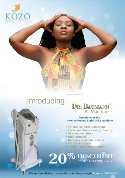 20% off all body fix using the Dr Baumann IPL machine