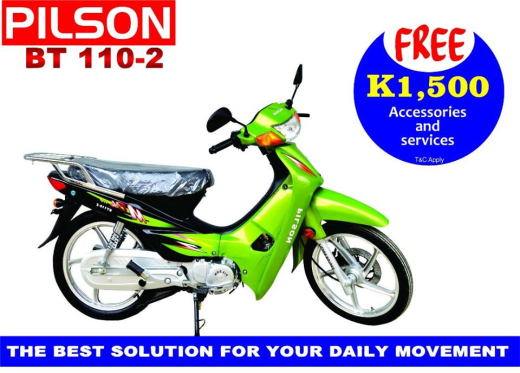 Buy a Pilson Bike and get free accessories and services worth K1,500